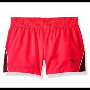 PUMA Little Girls' Pacer Mesh Overlay Shorts